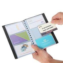 XRHYY, бизнес-держатель для карт, из искусственной кожи, 120 слотов, деловое имя, ID, держатель для карт, держатель для карт, чехол-книжка, органайзер(120 ячеек