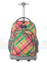 Gepäck 18 Zoll Rollende Rucksack Rädern Buch Tasche Kinder Kinder Trolley Schultasche Laptoptasche Reisetasche Rucksack Für Mädchen