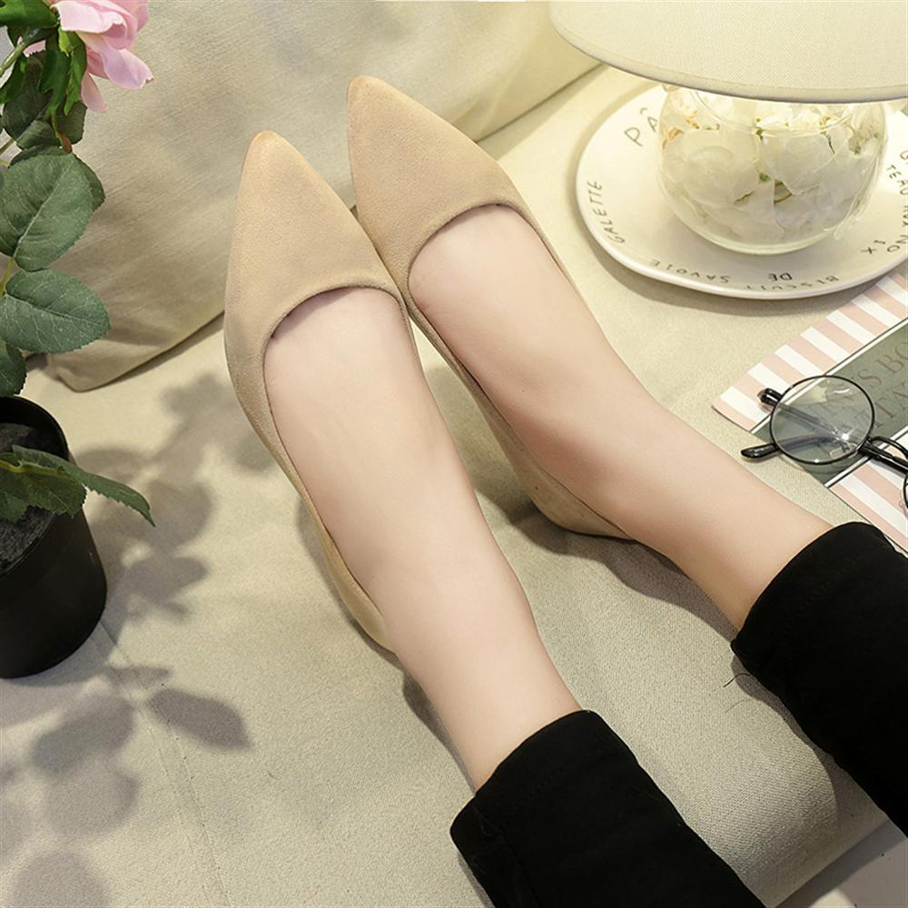 New Women Suede Flats Fashion High Quality Basic Mixed Colors Pointy Toe Ballerina Ballet Flat Slip On Shoes 2018 new women flats fashion soft bottom diamond pointy toe ballerina ballet flat slip on women shoes b201