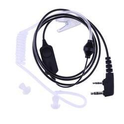 Alloet Универсальный 2 булавки воздуха Акустическая трубка Динамик гарнитура ушные крючки наушники для Bao Feng Kenwood HYT двухканальные рации радио