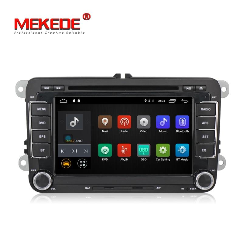 Commercio all'ingrosso! 4G LTE Quad core Android 7.1 Car audio radio Lettore DVD di Navigazione GPS per VW/Volkswagen/Passat /POLO/GOLF/Skoda/Sede