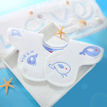 10PCS 28*25cm Cartoon Newborn Baby Bibs Waterproof Adjustable 100% Cotton Feeding Baby Saliva Towel For 0-24 Months