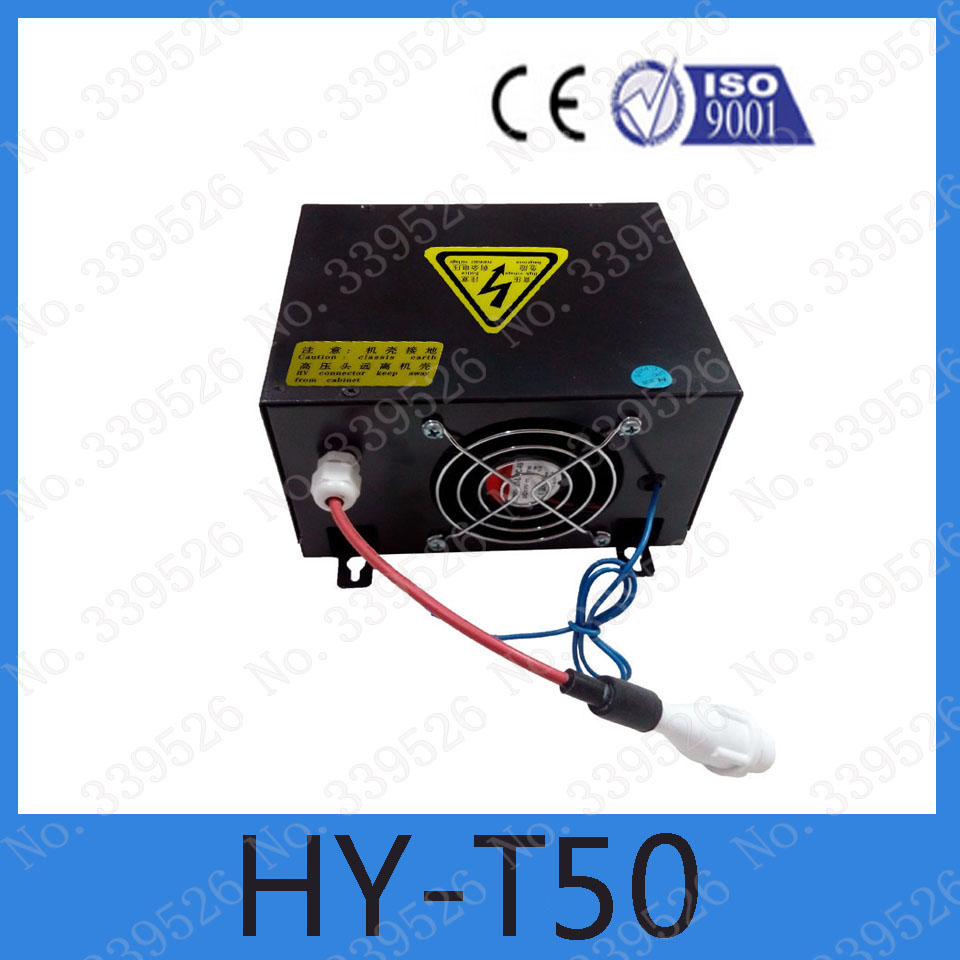 HY-T50 Power supply for  30w 40w 50w glass tube   co2 laser power box for co2 laser engraving machine high voltage flyback transformer hy a 2 use for co2 laser power supply