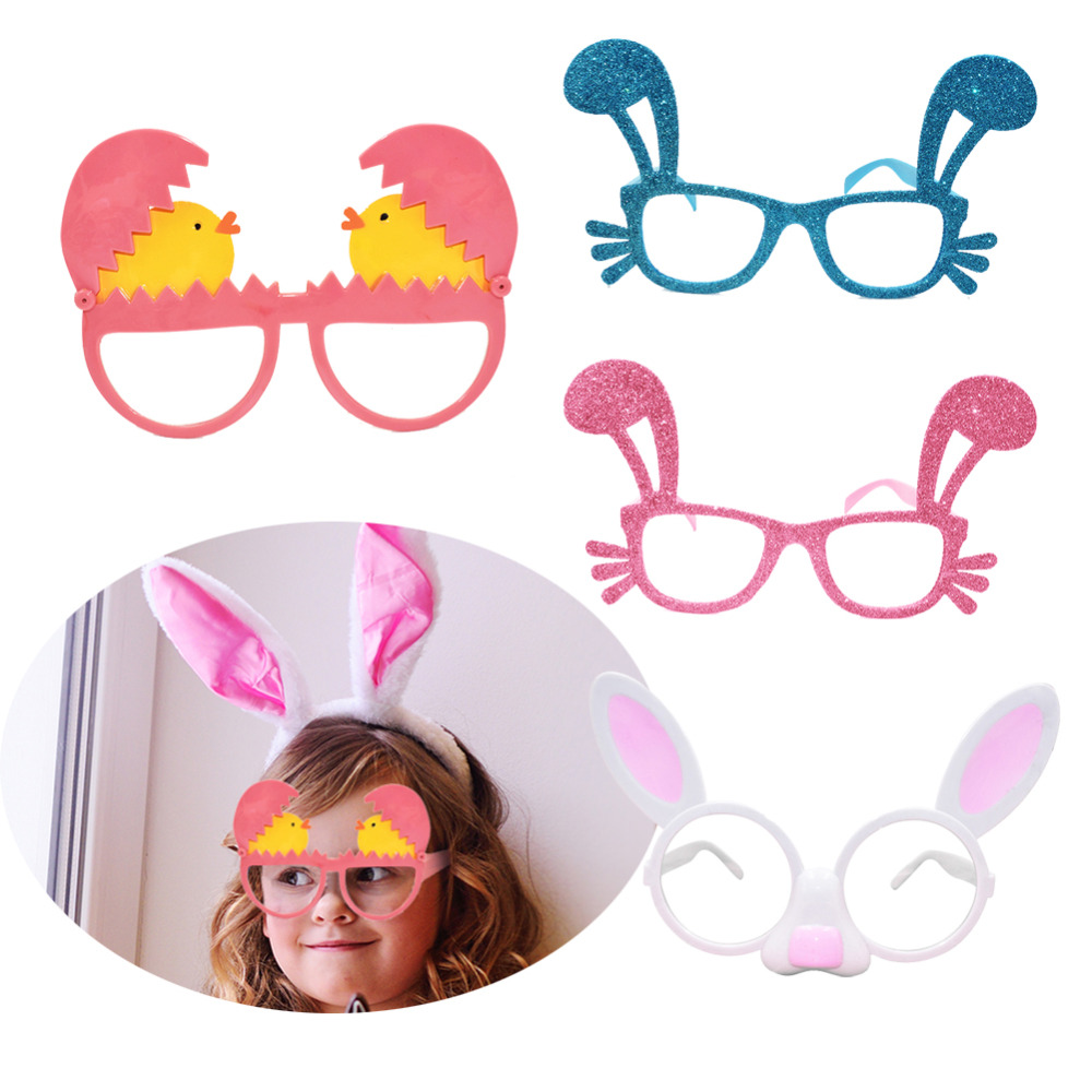 Easter Kids Fashion Toy Cute Rabbit Egg Shape Glasses Birthday Party Easter Props Costume Decoration Funny Glasses