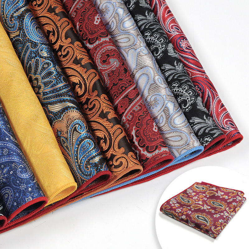 NEW Designer Paisley Flower Pocket Square Handkerchief Silk Fashion Hanky Mens Suit Pocket Accessories