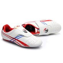 Новая детская таэквондо обувь анти-скольжение Тренировка по Кикбоксингу Обувь