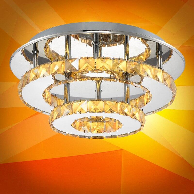 Borde dedicado LED redondo de cristal lámpara de techo luces de pasillo moderno simple pasillo lámparas de iluminación - 4