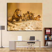 Modern Home Decorative Wall Art Picture Gift Animal Lion Family DIY Painting By Numbers Kits Coloring Paint Frameless