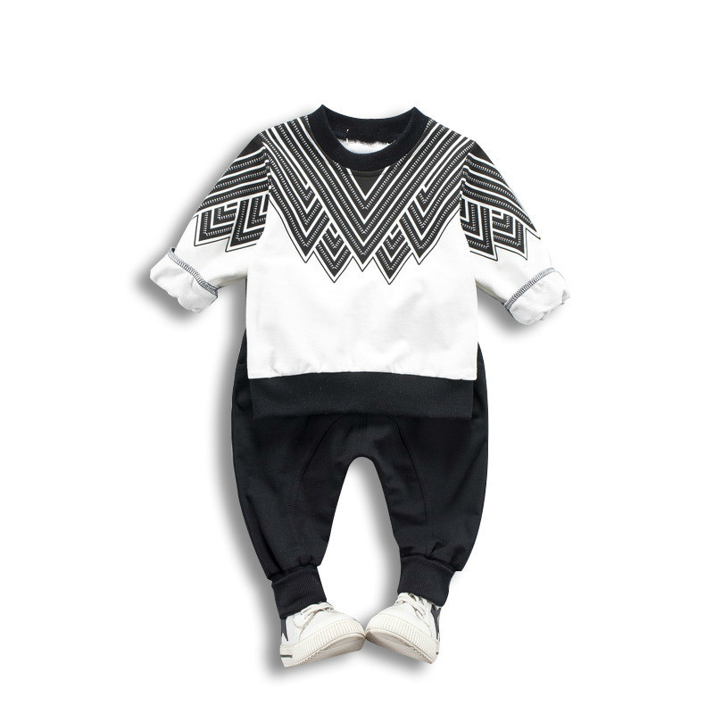 2018 New Toddler Kids Clothing Baby Gril Clothes Set Long Sleeve Pants Printing Cotton Sports Suit For Boy Fashion Spring Autumn