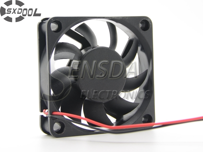 SXDOOL Cooling <font><b>Fan</b></font> Manufacturer 6015 6cm <font><b>60mm</b></font> 60*60*15 mm sleeve DC <font><b>5V</b></font> 0.20A 2wire quiet silence low noise image