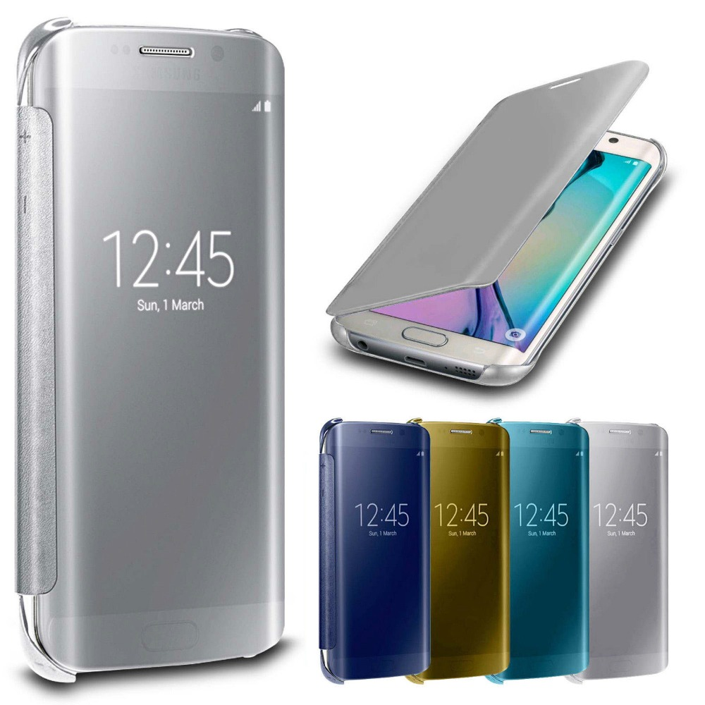 online store 8c043 87170 US $12.99 |Luxury Mirror Smart View Clear Flip Case Cover For Samsung  Galaxy S7 Edge on Aliexpress.com | Alibaba Group