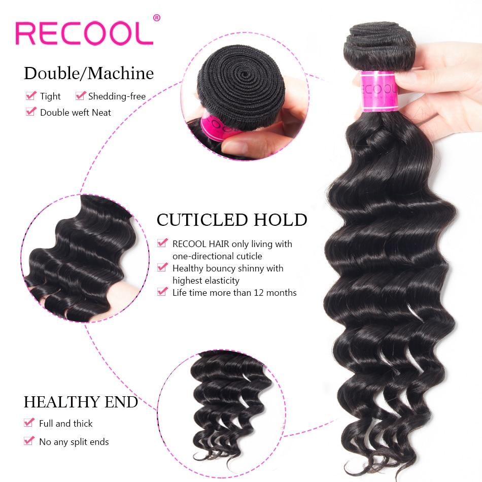 HTB1ijvywS8YBeNkSnb4q6yevFXap Recool Hair Loose Deep Wave Bundles With Closure Remy Brazilian Hair Bundles With Closure Human Hair Weave Bundle With Closure