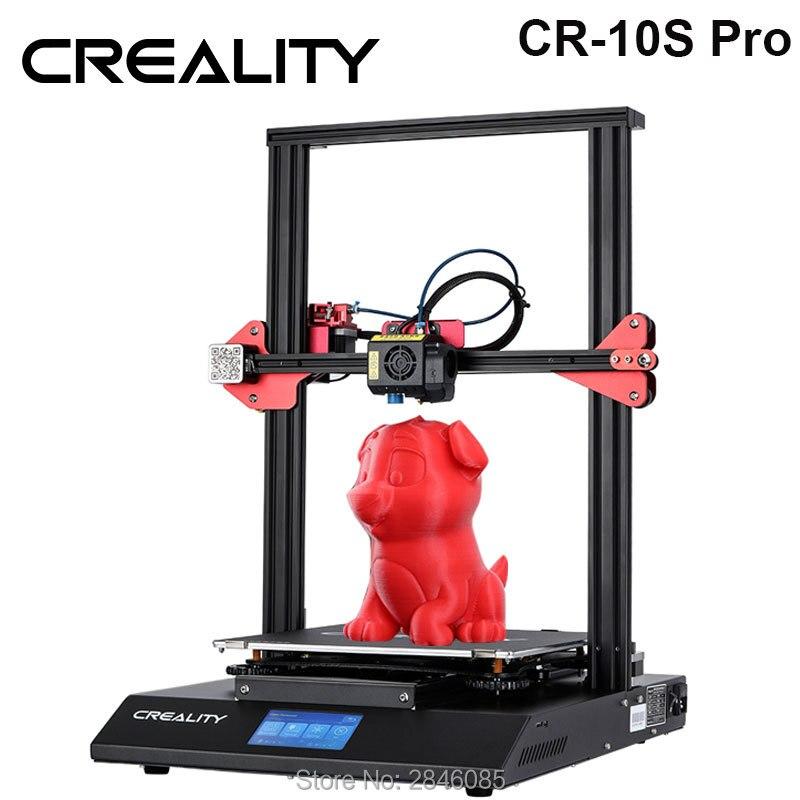CRIATIVIDADE 3D CR-10S Pro Impressora De 4.3 polegada LCD Sensível Ao Toque Sensor Automático de Nivelamento Retomar Impressão Funtion Detecção De Filamento de Alimentação MeanWell