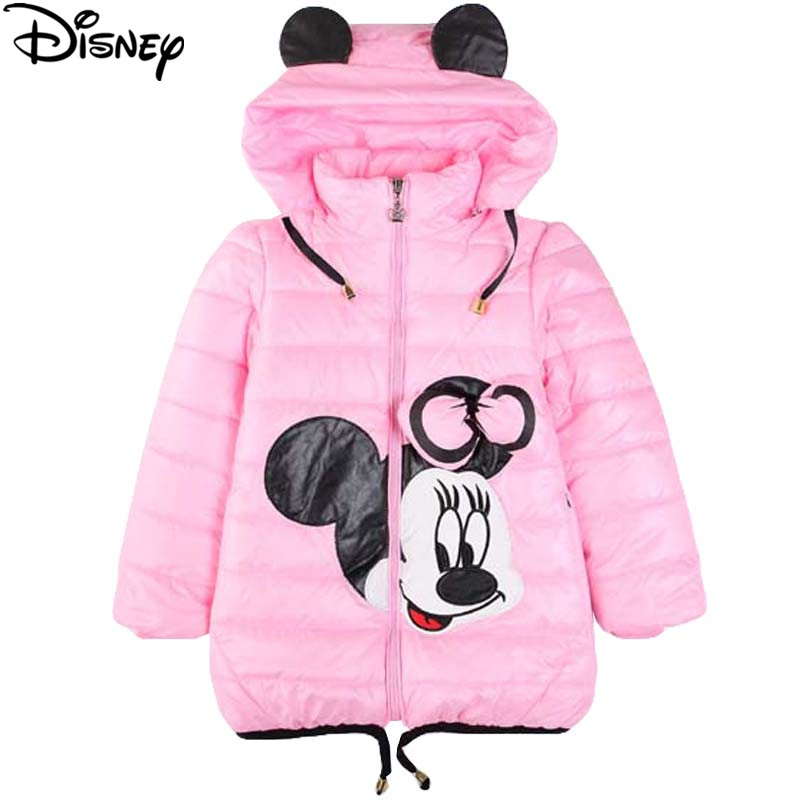 Disney Frozen Winter Girls Jacket Cartoon Minnie Coat Cotton-Padded parka Clothes Children's Clothing For Girls Costume For kids