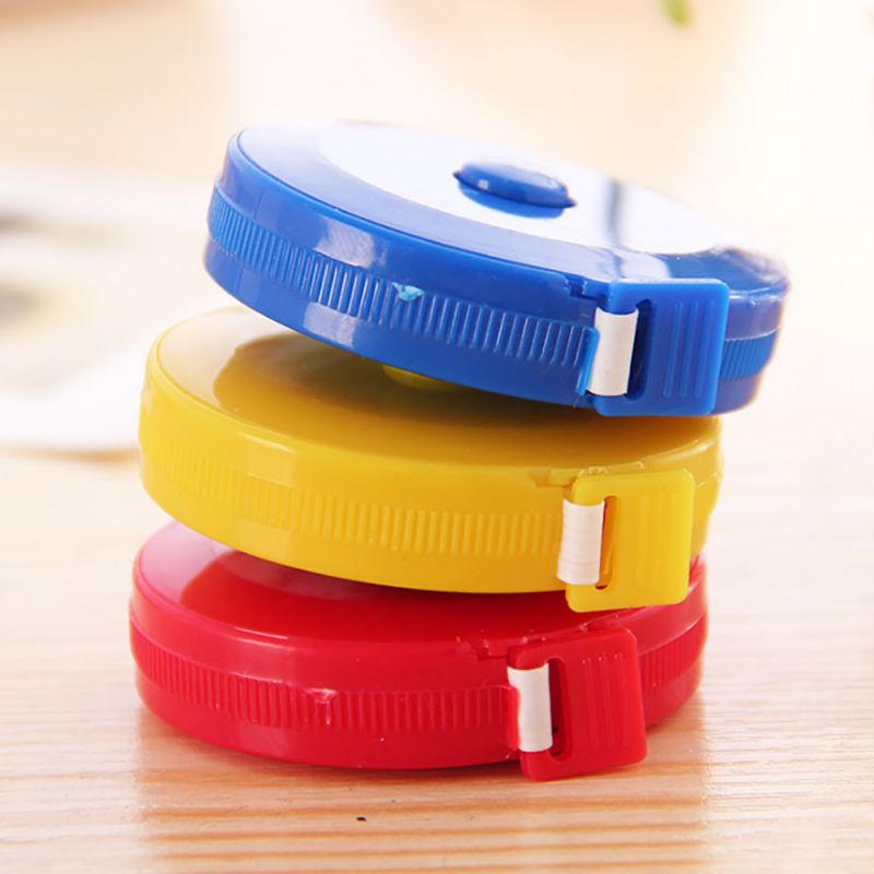 1.5m automatic extension and reduction tape send by color random Mini Measuring Tape Measure Retractable Metric Belt