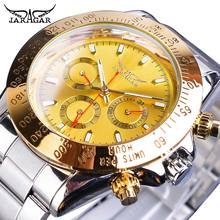 Jaragar Brand Luxury Men Watch Gold Big Dial Date Calendar Auto Mechanical Watches Stainless Steel Business Wristwatch Man Clock цена
