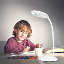 LED table lamp flexible foldable three-speed dimming eye protection AAA battery-powered children reading book light