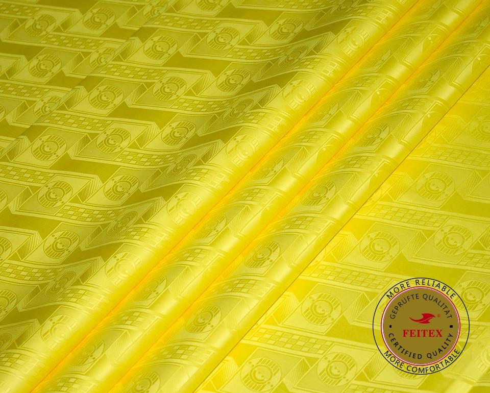 Brillante Nuevo Amarillo Tela Bazin Riche Tela Getzner de Calidad - Artes, artesanía y costura