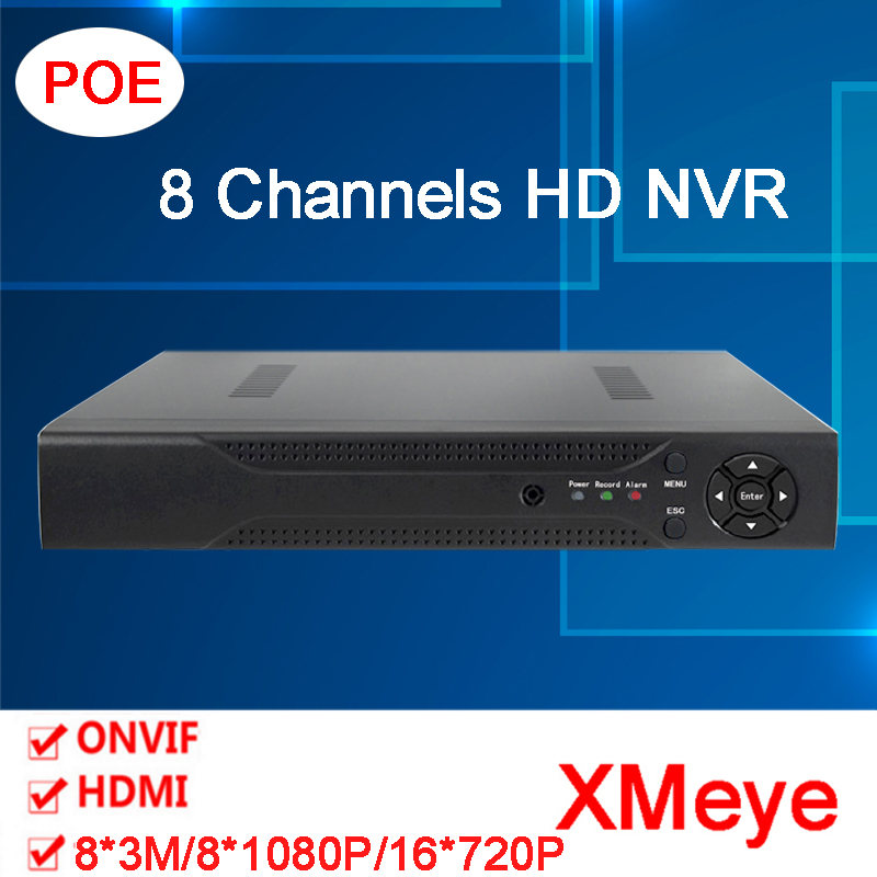 Hisiclion Chip Dahua Exterior 1080P ONvif  HD Digital 8 Channel POE Surveillance Video Recorder NVR Only Free shipping To Russia c p smith on playing oboe recorder flage paper only