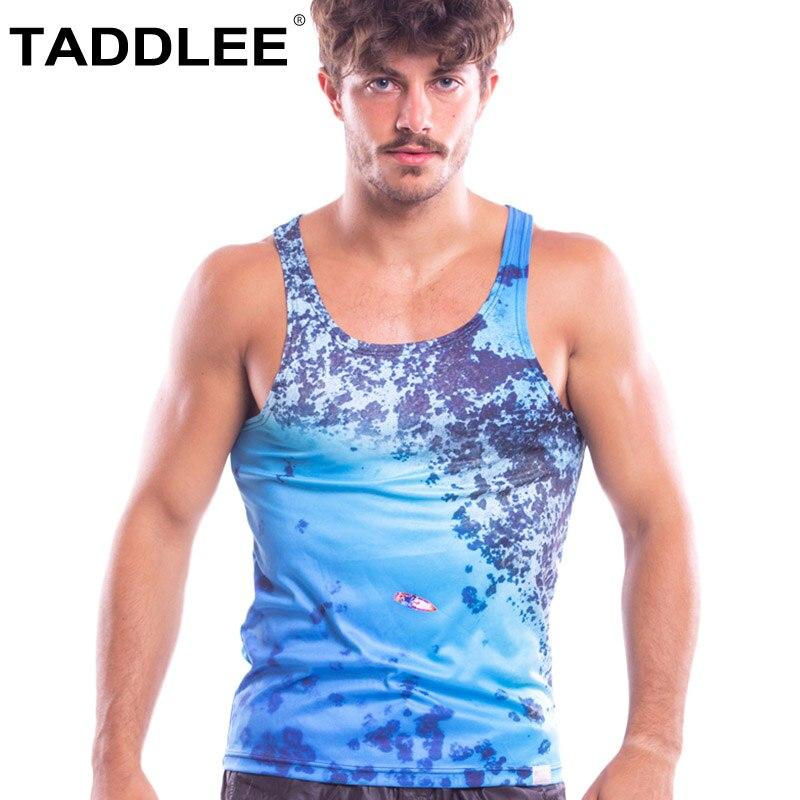 Taddlee marque hommes débardeur sans manches sous-chemises Gym Fitness cordes Singlets Muscle musculation 3D impression t-shirts nouveau