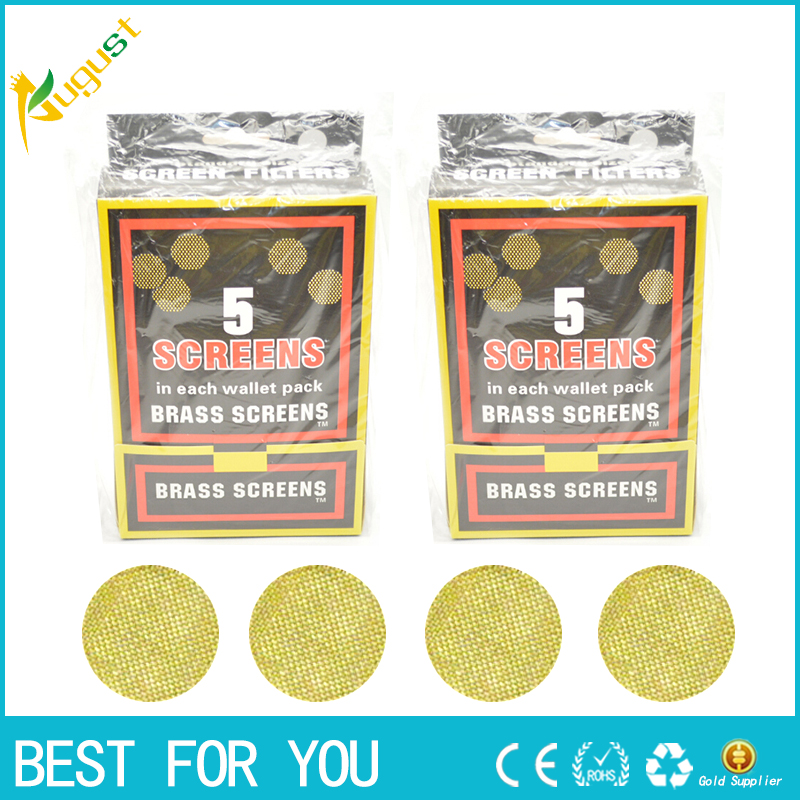 1000pcs high quality gold Smoking Tobacco Pipe weed Screen Smoking cigarette Accessories stainless steel Pipe Screens brass Pipe