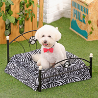 Domestic Delivery Metal Frame Bed For Dogs Pets Puppy Luxury Bed Zebra And Leopard Bed For