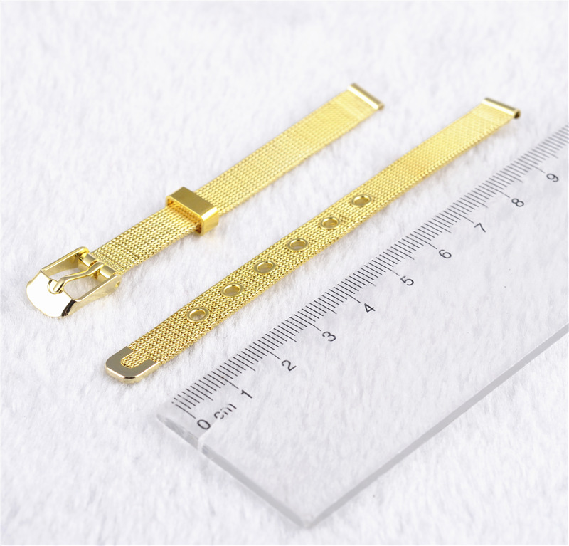 Popular Fashion Watchband Gold Color Stainless Steel Watchband Buckle Detachable Straps For Watch Luxury Reljoies Band