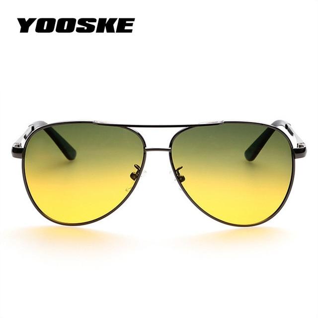 4f5d1f8864 YOOSKE Classic Pilot Aviation Day Night Vision HD Sunglasses Men Women Goggles  Glasses UV400 Driver Night