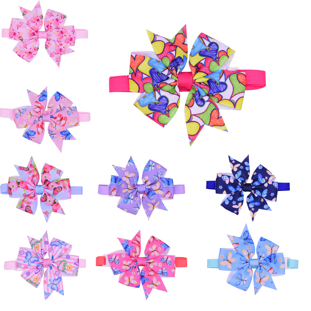 30pcs Valentine's Day Pet Dog Accessories Butterfly Style