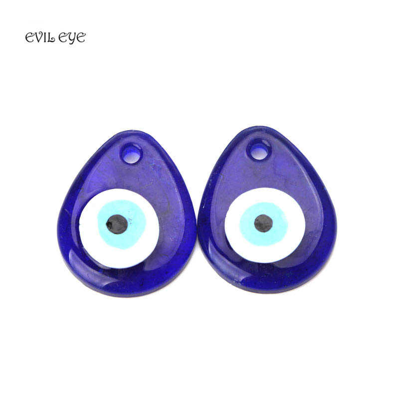 1pc Simple Fashion Blue Evil Eye Pendent Glass Charm Necklace Components For Diy Jewelry Making Accessories
