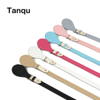 TANQU New 8 Colors Long Short Flat Handles With Drop End For Obag Faux Leather Handle