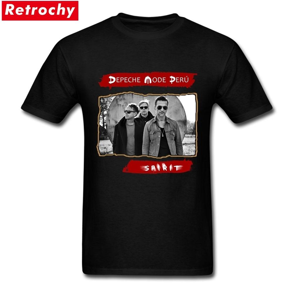 2017 Pria Populer Depeche Mode Kaus Pria Inggris Violator Merchandise Kemeja Tour Kaus Lengan Pendek Katun Pria Kaus ukuran Besar-Internasional