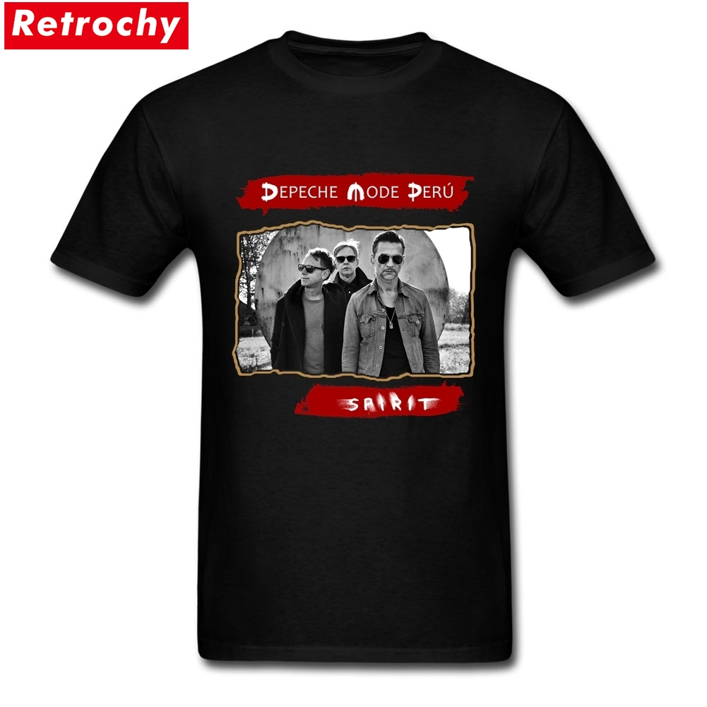 2017 Mens Popular Depeche Mode T Shirt Men UK Violator Merchandise Shirts Tour Tee Short Sleeve Cotton Guys T-shirts Big Size