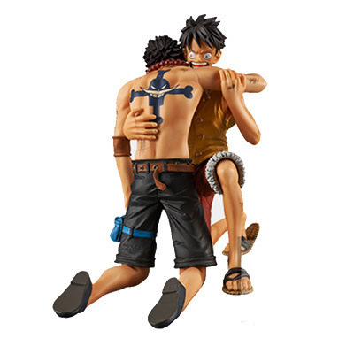 One Piece DRAMATIC SHOWCASE Luffy Ace Anime Collectible Action Figure PVC Collection toys for christmas gift Free shipping