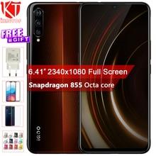 NEW Original vivo iQOO Mobile Phone Android 9.0 Snapdragon 855 Octa Core 8G RAM 128G ROM NFC 4 Camera 4000mAh NFC Cellphone