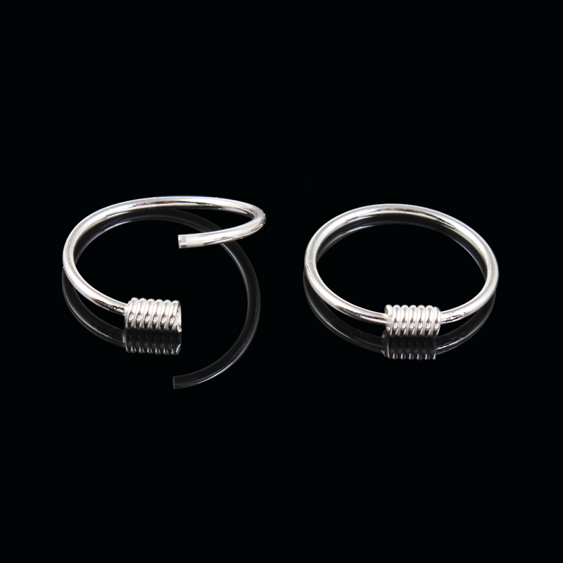 Real 925 sterling silver nipple ring round body piercing 20G outside diameter 8 10 12 mm piercing jewelry S925 fashion jewelry-2