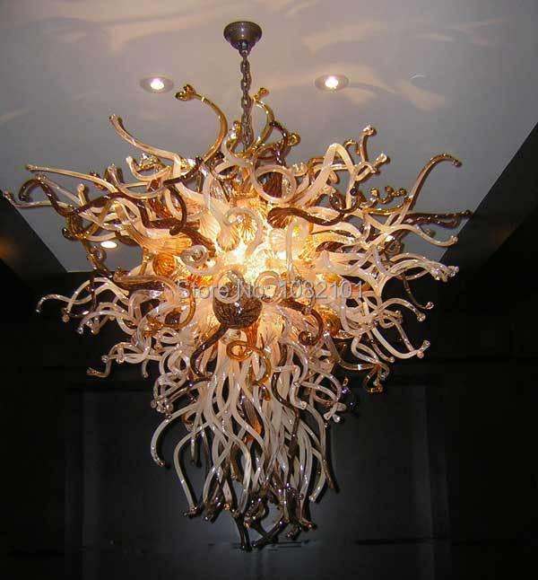 Lustre en verre soufflé d'éclairage de haute qualité moderne