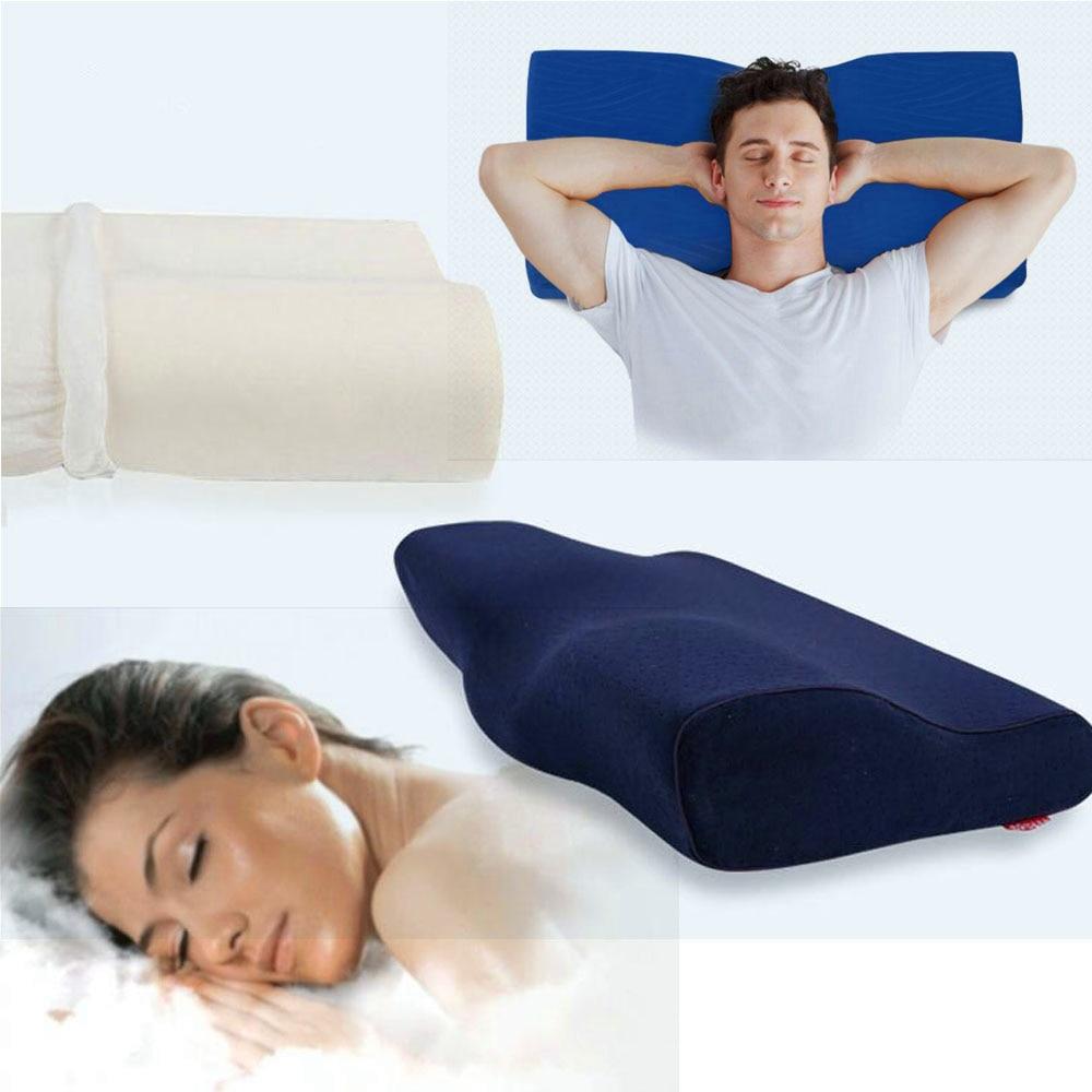 Adult Orthopedic Neck Pillow Slow Rebound Memory Health Care Latex Foam Pillow