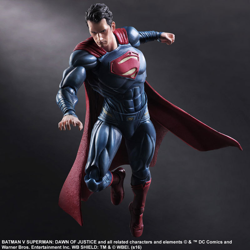 Play Arts 25cm the Superman Sign in Movie Batman vs Superman DC Super Hero Action Figure ...