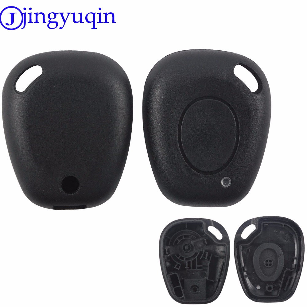 jingyuqin 1 Button Car Key Cover Case Styling Fob For Renault Megane Scenic Laguna Flip Fob Keyless Entry Remote Key jingyuqin 3 buttons remote silicone rubber car key case cover for renault megane r s scenic 3 button card key smart key