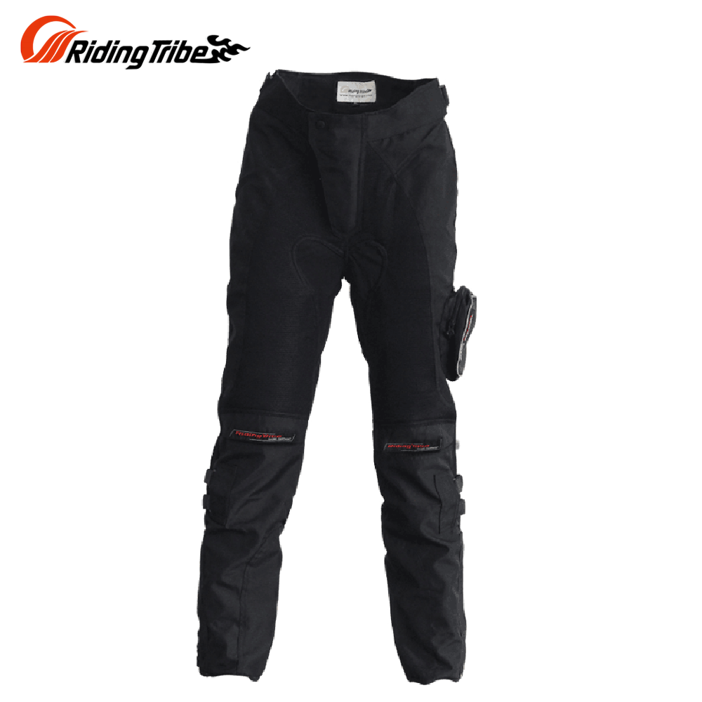Riding Tribe men Motorcycle Racing Long Pants black Moto Motocross Protective Motorbike Off-Road Riding Pants Trousers HP-02