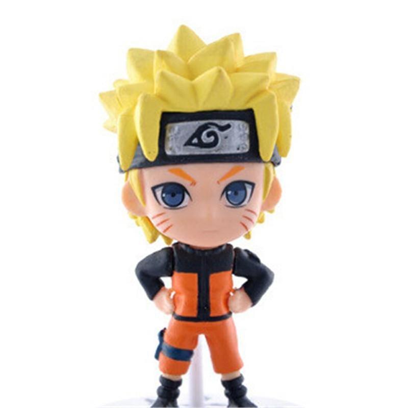 Anime Naruto 6pcs Ninja Uzumaki Sakura Kakashi Zabuz 7cm Action Figure Model