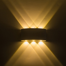 up and down led wall light White body 6W wall mounted led sconces and bracket lamp decoration home bedroom Wall lighting fede fd1032rop настенный светильник из латуни up and down gold white patina