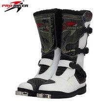 PRO,BIKER PU En Cuir Moto Motocross Racing Longue Bottes Chaussures  Motocross Hors Route Équitation