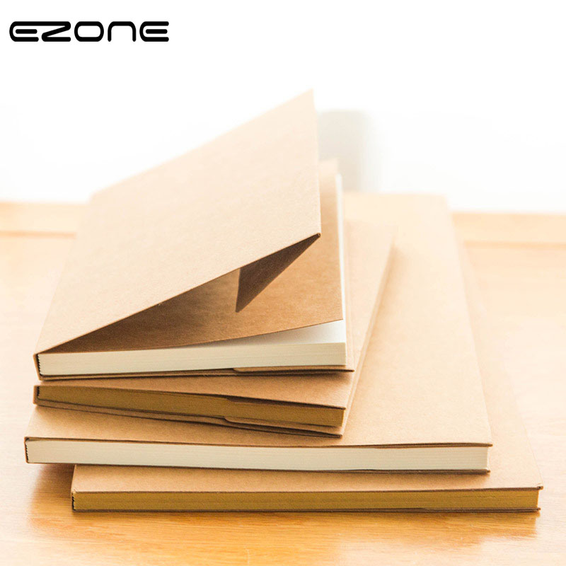EZONE White/Kraft Paper Inner Page Notebook Art Students Sketch Book Office Memo Children Graffiti School Stationery Supply New