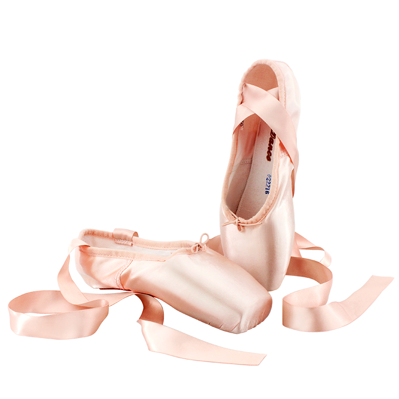 Picture of 2017 Women Ballet Dance Sneakers Satin Hard Sole Leather Pointe Professional Ballet Shoes For Girls
