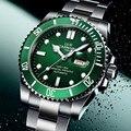 High end Sport horloge Water Ghost Serie CARNAVAL Zwemmen Automatische Horloge Mannen Kalender Sapphire Lichtgevende Mechanische horloges mannen