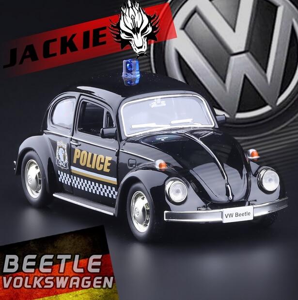 132 volkswagen beetle 1967 police vintage car alloy model toys back in alloy car models for kids gift