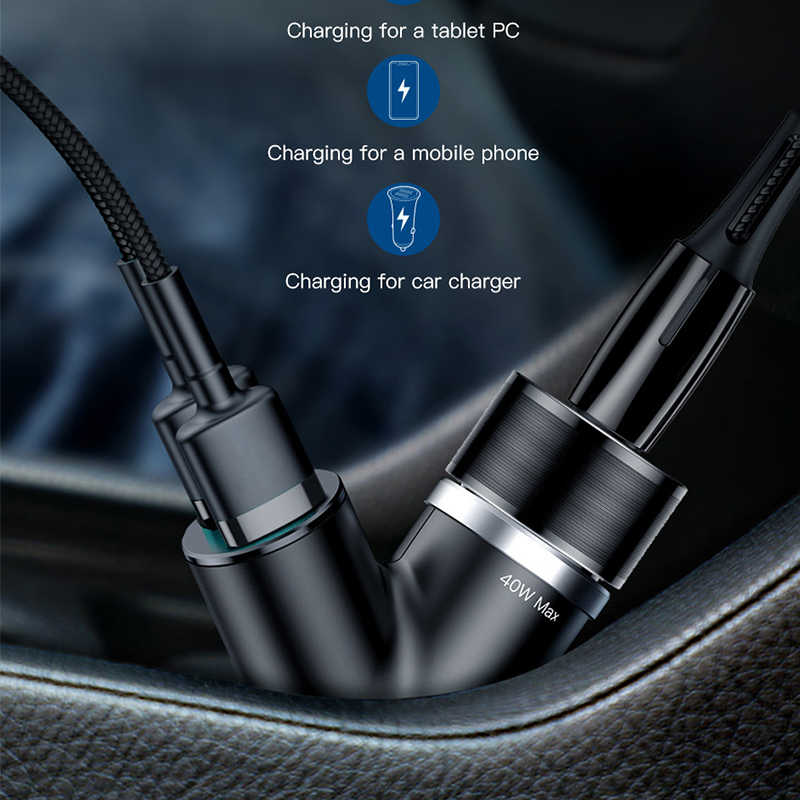 Baseus Dual USB Car Charger For iPhone Samsung Xiaomi mi 3.4A Fast Charging Car Phone Charger Adapter Cell Mobile Phone Charger