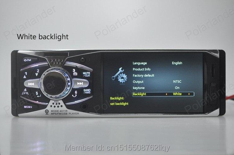4,0 ''HD auto Radio estéreo 12 V trasero TFT MP5 jugador AUX/SD/USB/FM cargador en el salpicadero 1 din MP3/MP4/Audio/vídeo/electrónica de coche - 3